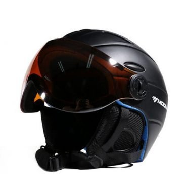 Winter Safety Helmet With Goggles Integrated