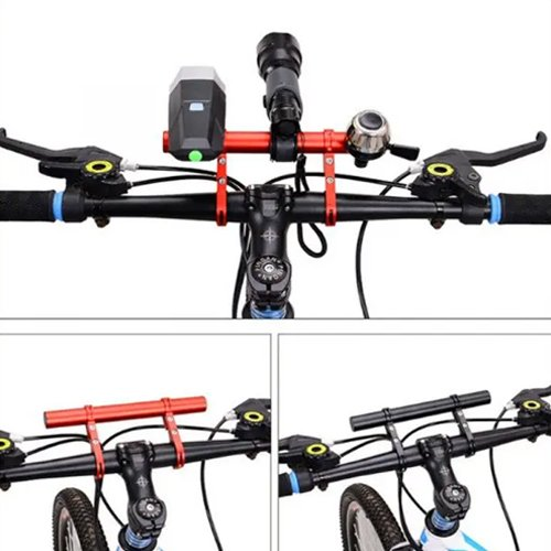 Aluminum Bicycle Handlebar Extender Double Clamp